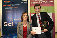 Avondale Community School's Sean Byrne to represent Wicklow at Ireland's largest science competition