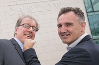 Billy Walsh, Head Coach to the Irish Boxing High Performance Team and Professor Avery Faigenbaum from the College of New Jersey