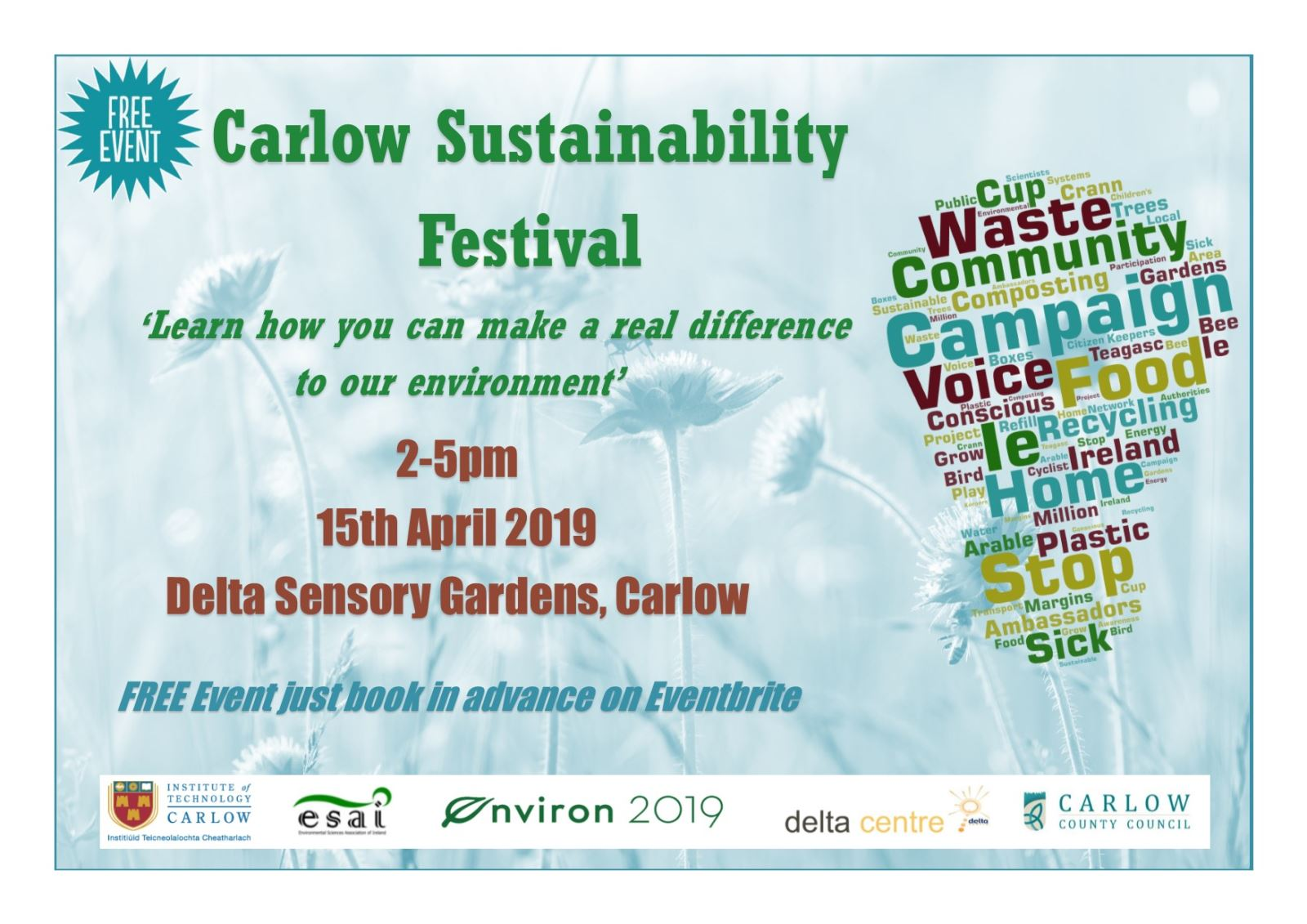 Carlow Sustainability Festival poster