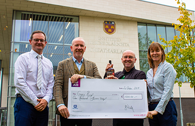 A Ringing Success IT Carlow Brewing and Distilling Student Gary Ring Awarded Walsh Whiskey Bursary
