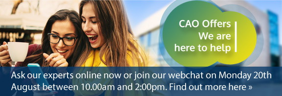 CAO offers at IT Carlow, live chat help