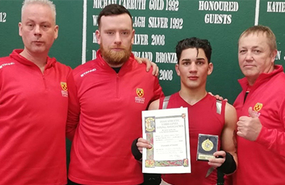 Chelmiah wins Gold for IT Carlow Boxing Club at National Stadium in IATBA Boxing Intervarsities