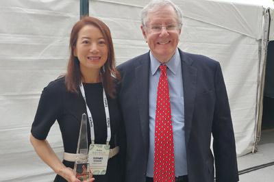 Steve Forbes meets Xuemei Germaine