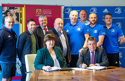 Leinster Rugby and Institute of Technology Carlow Continue Educational Partnership First Launched in 2008
