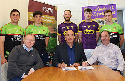 Institute of Technology Carlow and Wexford GAA Sign Memorandum of Understanding