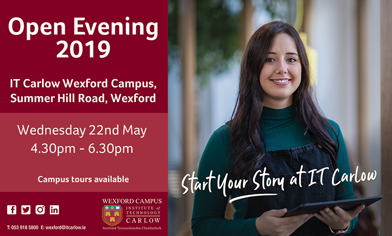 it carlow wexford campus open evening 2019
